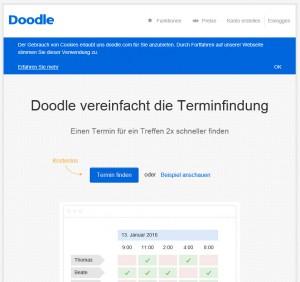 Screenshot von doodle.com