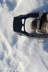 Schneeschuh mit Stiefel